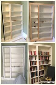 Usa Bookcase Ikea Billy Bookcase Oak Uk Hack Modified Built Alcove Shelving