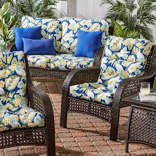 Pvc Patio Furniture Cushions by Amazon Com Greendale Home Fashions Indoor Outdoor High Back