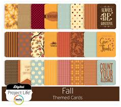 digital project fall themed scrapbook cards digitalprojectlife