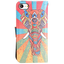 exotic color names colorful exotic elephant shimmering folding phone wallet multi