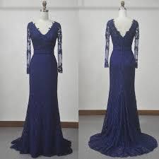 online shop actual image women long navy blue prom dresses lace