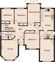 4 Bedroom 2 Bath House Plans Large 4 Bedroom House Plans Uk Home Act