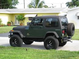 green jeep rubicon green jeep tan interior black top jeepforum com jeep