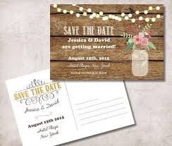 Rustic Save The Date Save The Date Postcard Printable Rustic Save The Date Card Mason