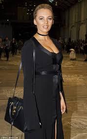 samantha jade flashes her corset bra at australian fashion week