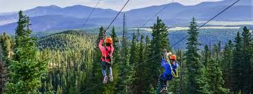 Backyard Zip Line Without Trees by Zipline Adventure Tours Angel Fire Resort New Mexico