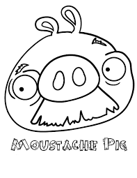 moustache pig angry bird pigs coloring pages bulk color