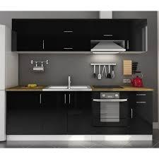cuisine en noir photo cuisine noir pas cher