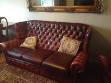 high back leather sofa high back chesterfield sofa ebay
