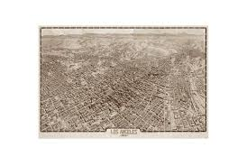 Map Los Angeles Ca by Picture Los Angeles Map 1909 36x24 Living Spaces
