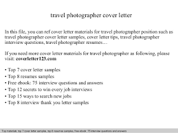 Photographers Resume Sample by Travel Photographer Cover Letter