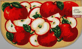 Apple Kitchen Canisters Amazon Com Living Classics Orchard Apples Kitchen Slice Rug