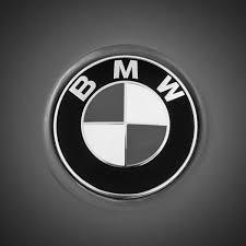 black and white bmw logo bmw emblem 0460bw poster by reger
