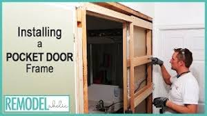 can you use an existing door for a barn door installing a pocket door frame in an existing wall
