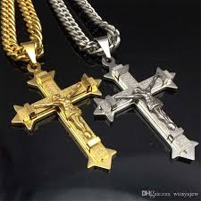 cross with jesus necklace images Wholesale gold silver tone cross christ jesus pendant necklace jpg