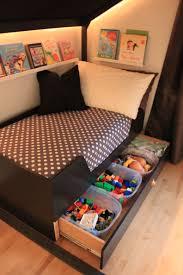 around the bed book display u0026 under bed toy storage or linen