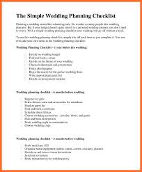 simple wedding planning simple wedding checklist soap format