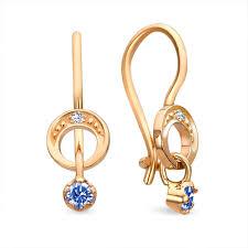 toddler earrings buy 14k gold toddler earrings horseshoe blue kids jewelry
