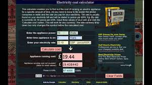 light bulb cost calculator how to calculate the cost of running electric appliances kwh