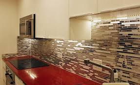Stainless Steel Tiles For Kitchen Backsplash Stainless Steel Backsplash A Metal Mosaic Wall Tile Shop