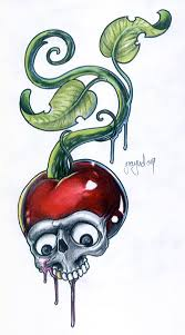 cherry tomato skull by graynd on deviantart