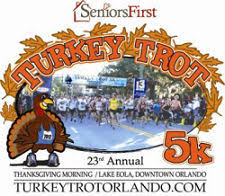 2014 turkey trot 5k on thanksgiving at lake eola in downtown