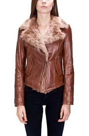 women s fur lined leather biker jacket grapple network