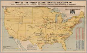 Davis Map Map Of The United States Showing Locations Of National Guard