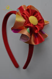 ribbon hair bands hair band with multi coloured ribbon flower by princess
