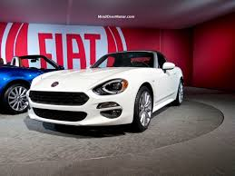 fiat spider white new fiat 124 spider at the l a auto show 2015 mind over motor