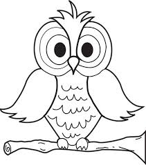 Owl Print Coloring Pages Coloring