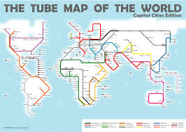 world map of capital cities capital cities