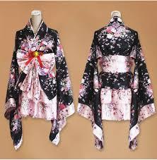 Maid Costumes Halloween Sakura Kimono Cosplay Anime Maid Costume Japanese Kimono Dress