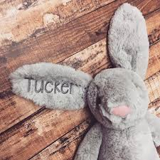 personalized easter bunny personalized easter bunny solid grey thetinycloset
