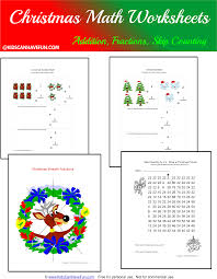 free christmas math worksheets for the holidays awesome collection