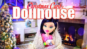 diy how to make christmas card dollhouse easy holiday gift
