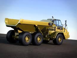 3d model articulated dump truck caterpillar 725 cgtrader
