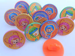 12 team umizoomi rings cupcake toppers birthday party favor