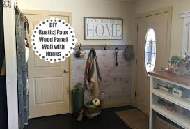 Wood Paneling Walls by Diy Faux Wood Panel Wall With Hooks Youtube