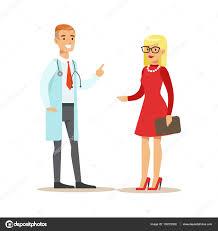 K Henelemente Kaufen Im Gespräch Mit Einem Patienten Diskutieren Behandlung