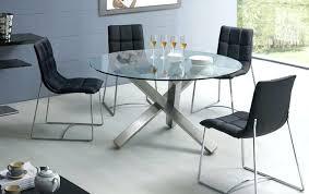 table de cuisine ronde en verre table ronde avec chaise amacnagement table ronde verre cuisine
