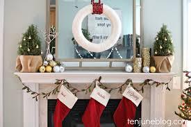 ten june a rustic metallic christmas mantel link party