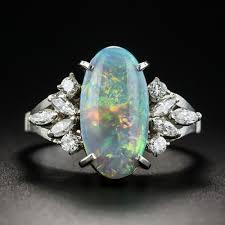 black opal engagement rings black opal diamond platinum ring