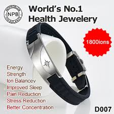 power health bracelet images D007 noproblem ion balance silicone health energy tourmaline charm jpg