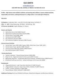college resume examples for high seniors resume for