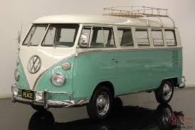 volkswagen minivan 1960 volkswagen type 2 deluxe 13 window micro bus restored mint green