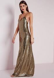 fancy maxi dresses premium sequin maxi dress bronze missguided