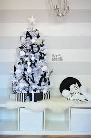 small white christmas tree 32 modern black and white christmas décor ideas digsdigs