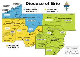 Erie County Map Map Of Diocese Of Erie Saint Peter Cathedral