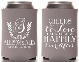 personalized wedding koozies wedding koozies etsy